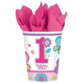 8 Becher 1. Birthday Girl