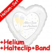 Folienballon zur Hochzeit - Mit Helium