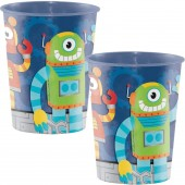 8 Party-Becher Lustige Roboter