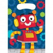 8 Partytüten Lustige Roboter