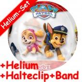 Durchsichtiger Folienballon Paw Patrol - Mit Helium-Füllung