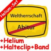 Folienballon Abitur - Weltherrschaft - Ohne Helium-Füllung