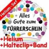 Folienballon Alles Gute zum Führerschein - Mit Helium-Füllung