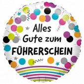 Folienballon Alles Gute zum Führerschein - Ohne Helium-Füllung