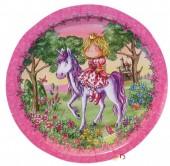 """6 Teller """"Prinzessin - Einhorn"""""""