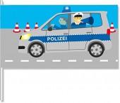 8 Fähnchen Polizei