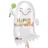 Folienballon Happy Halloween Geist