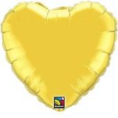 XXL-Folienballon Goldenes Herz