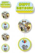 5 Deckenhänger Zoo & Zootiere