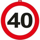 XXL-Dekoration 40. Geburtstag