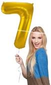 Folienballon Zahl 7 - in Gold