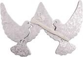 Waben-Girlande Weiße Tauben