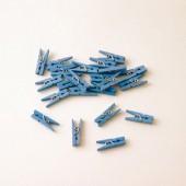 Blaue Mini-Wäscheklammern Junge