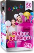 Ballongas-Flasche mit Helium für 50 Ballons