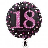 Folienballon 18. Geburtstag - Sparkling Pink