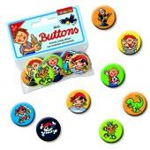 8 Mini Buttons Jungen
