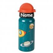 Trinkflasche Rakete - Mit Wunschname
