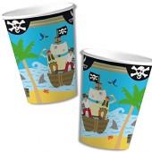 8 Becher Piraten