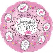 Folienballon Happy Birthday Princess