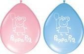 8 Luftballons Peppa Pig