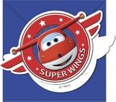6 Einladungen Super Wings