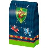 8 Partytüten und Sticker Ritter Vincelot aus Papier