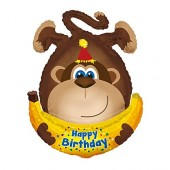 Folienballon Happy Birthday Affe in XL