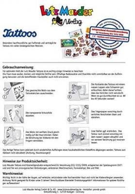 Schmetterlinge Glitzer-Tattoos