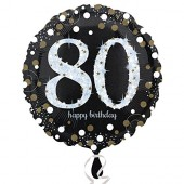 Folienballon Happy Birthday - 80. Geburtstag
