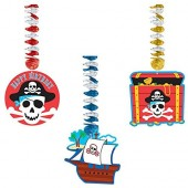 3x Hängedekoration Piraten