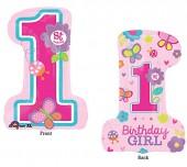 Folienballon 1. Birthday Girl