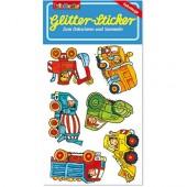 Baustellenfahrzeuge Glitter Sticker