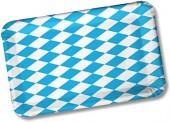 10 rechteckige Teller Bayern / Oktoberfest