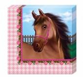 20 Servietten Pferde