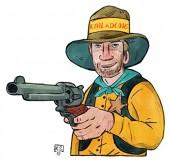 6 Einladungen Cowboy