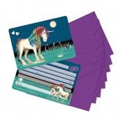 8 Einladungskarten Lunabelle