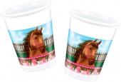 8 Becher Pferde