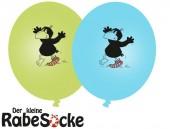 8 Luftballons kleiner Rabe Socke