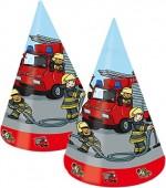 8 Partyhütchen Feuerwehr