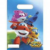 6 Partytüten Super Wings