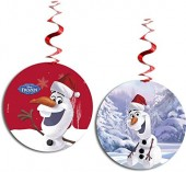 3 Deko-Wirbel Frozen: Olaf - Winterparty