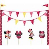 Kuchen Deko Set Minnie Mouse Red