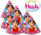 6 Partyhütchen Heidi und die Berge