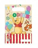 6 Partytüten Winnie Pooh Alphabet