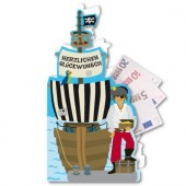 Glückwunschkarte Piratenschiff