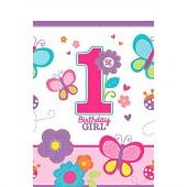 Tischdecke 1. Birthday - Girl