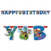 Happy Birthday Banner Paw Patrol