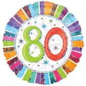 Folienballon Happy Birthday - 80. Geburtstag