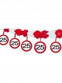 4m Girlande 25. Geburtstag