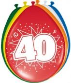 8 Luftballons Zahl 40
